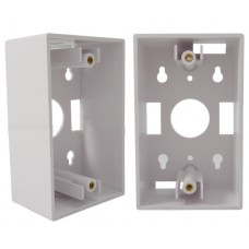 Single Gang Wall Plate Junction Box White