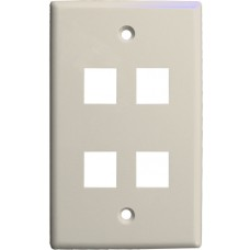 4 Port  Keystone Wall plate