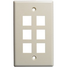 6 Port  Keystone Wall plate
